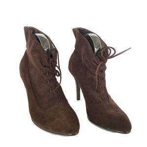 Calvin Klein Womens Booties 8M Ankle Brown Boots